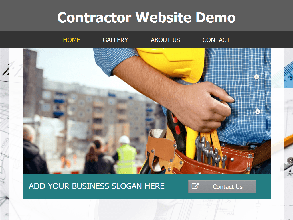 Contractor Website Demo