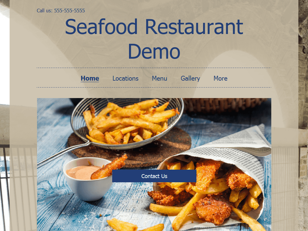 Seafood Site Demo