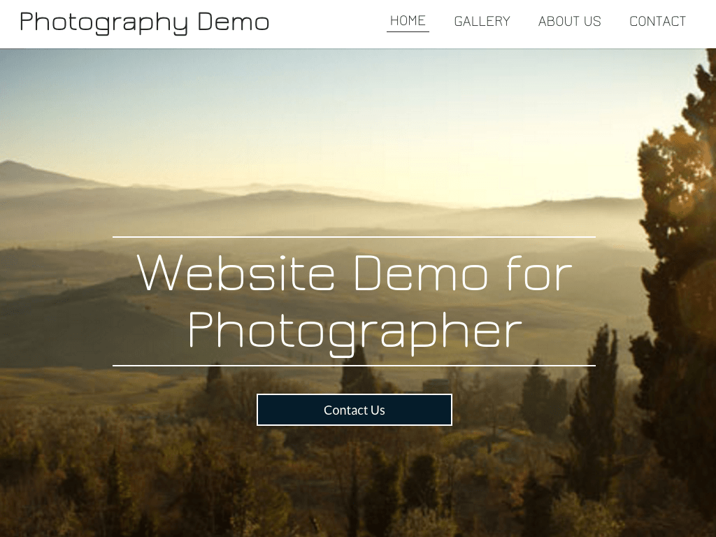Photography Website Demo