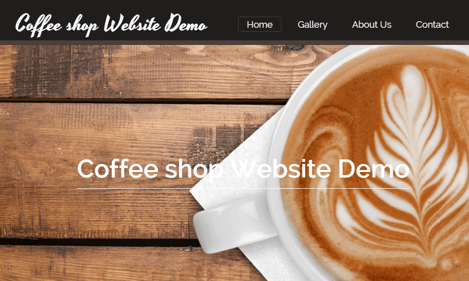 Coffee Shop Website Demo