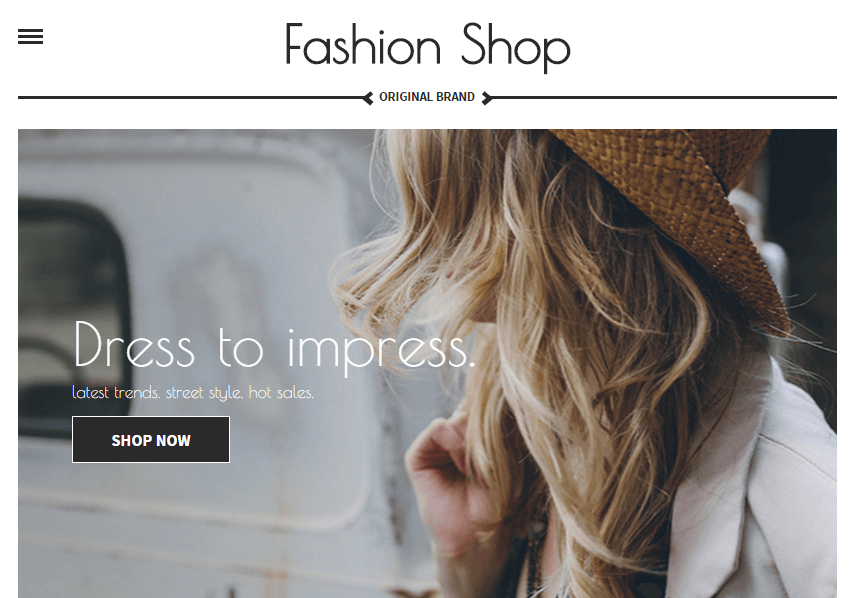 Fashion Shop Website Demo