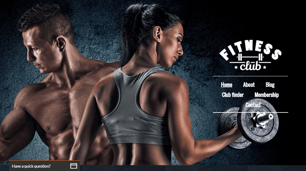 Fitness Club Website Demo