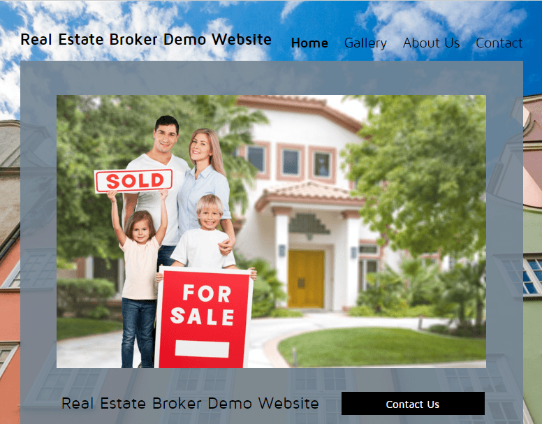 Real Estate Broker Website Demo
