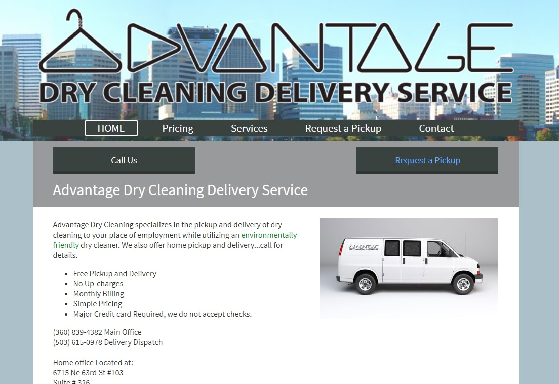 Advantage Dry Cleaning Delivery Service